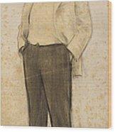 Portrait Of Hermenegild Miralles Wood Print