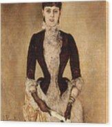 Portrait Of Isabella Reisser Wood Print