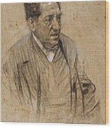 Portrait Of Iscle Soler Wood Print