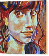 Portrait Of Ivana Wood Print