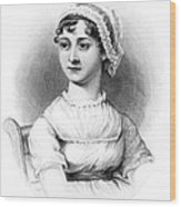 Portrait Of Jane Austen Wood Print by English School