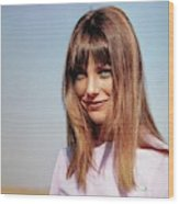 Portrait Of Jane Birkin Wood Print