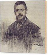 Portrait Of Jaume Carner Wood Print