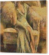 Portrait Of Jean Harlow Wood Print