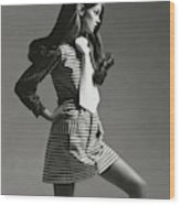 Portrait Of Jean Shrimpton Wood Print
