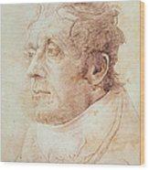 Portrait Of Jmw Turner Wood Print by Cornelius Varley