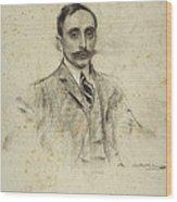 Portrait Of Joan Ventosa Wood Print