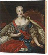Portrait Of Johanna-elizabeth, Electress Of Anhalt-zerbst, C.1746 Oil On Canvas Wood Print