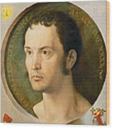 Portrait Of Johannes Kleberger Wood Print
