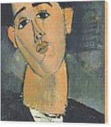 Portrait Of Juan Gris Wood Print