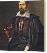 Portrait Of Kaspar Scioppius Wood Print