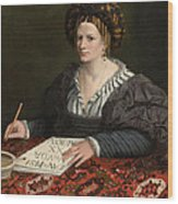 Portrait Of Laura Pisani Wood Print
