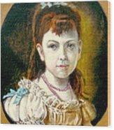 Portrait Of Little Girl Wood Print