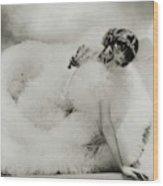 Portrait Of Loretta Young Wood Print
