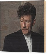 Portrait Of Lyle Lovett Wood Print