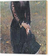 Portrait Of Madame Edouard Pailleron Wood Print