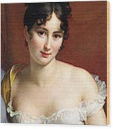 Portrait Of Madame Recamier  Wood Print