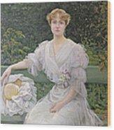Portrait Of Marguerite Durand Wood Print