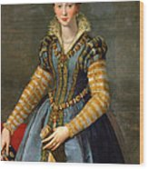 Portrait Of Maria De Medici Or Eleonora Di Garzia Di Toledo Wood Print