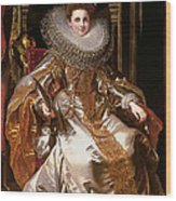 Portrait Of Maria Serra Pallavicino Wood Print
