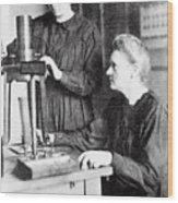 Portrait Of Marie & Irene Curie Wood Print