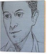Portrait Of Mark Owen Wood Print