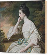 Portrait Of Miss Anne Dutton Wood Print