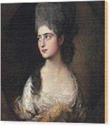 Portrait Of Miss Elizabeth Linley  Later Mrs Richard Brinsley Sheridan Wood Print