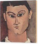 Portrait Of Moise Kisling Wood Print