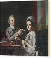 Portrait Of Mr And Mrs Thomas Mifflin Wood Print