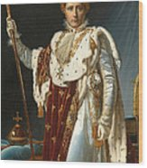 Portrait Of Napoleon In Coronation Robes Wood Print