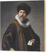 Portrait Of Nicolaes Ruts Wood Print
