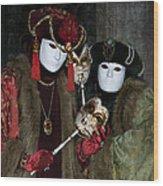 Venetian Carnival - Portrait Of Nobles Wood Print