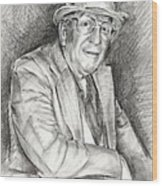 Portrait Of Paul England Wood Print