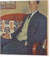 Portrait Of Peter Kapitza 1926 Wood Print