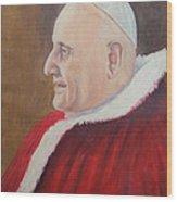 Portrait Of Pope John Xxiii - Papa Giovanni Xxiii Wood Print by Mario Zampedroni