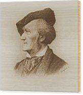 Portrait Of Richard Wagner German Wood Print