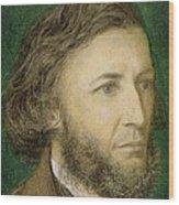 Portrait Of Robert Browning Wood Print