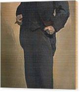 Portrait Of Samuel L Clemons - Mark Twain Wood Print