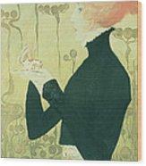 Portrait Of Sarah Bernhardt Wood Print by Manuel Orazi