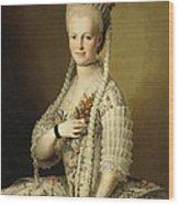 Portrait Of Sarah Cook Wood Print