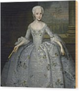 Portrait Of Sarah Eleanore Fairmore Wood Print