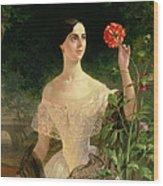 Portrait Of Sofia Andreyevna Shuvalova Wood Print