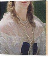 Portrait Of Sophie Troubetskoy  Wood Print