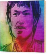 Rainbow Portrait Of Stevie Winwood Wood Print