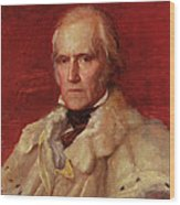 Portrait Of Stratford Canning 1786-1880, Viscount Stratford De Redcliffe 1856-7 Oil On Canvas Wood Print