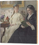 Portrait Of The Artist S Mother And Sister Wood Print