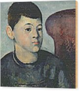 Portrait Of The Artists Son Wood Print