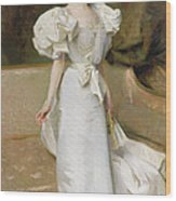 Portrait Of The Countess Of Clary Aldringen Wood Print by John Singer Sargent