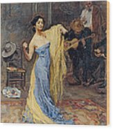 Portrait Of The Dancer Anna Pawlowa Wood Print